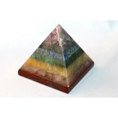 Pyramide de pierres chakras