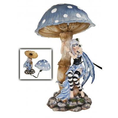 Lampe fée et champignon