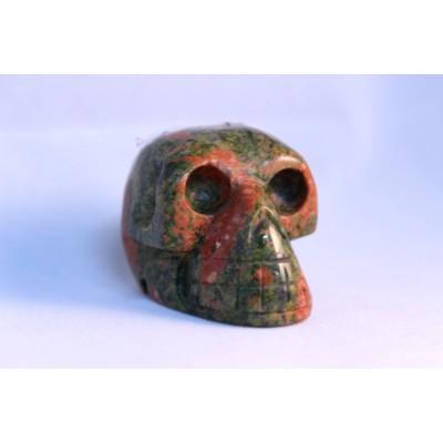 Crâne en pierre d'unakite
