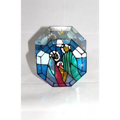 chandelier vitrail religieux